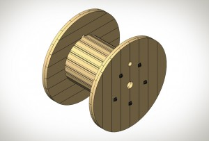 Holzkabeltrommeln Kabelrollen